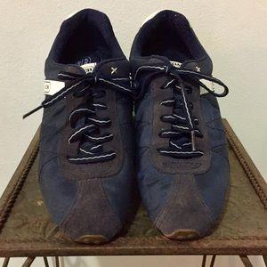 "COACH ""Renata""  Fabric Suede Trim Fashion Sneakers"